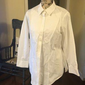 Chico's No Iron White Cotton Dress Shirt